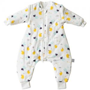 China Comfortable Organic Cotton Baby Sleeping Bag Warm Thick Baby Blanket Pajamas on sale