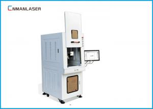 China Safety Cover Enclosed Cabinet Fiber Marking Machine 20 Watt For Alloy Aluminum Diamond on sale