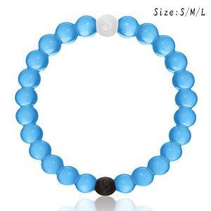 China Soft Transparent Sky Blue LOKAI Rubber Sports Silicone Bracelets Durable on sale