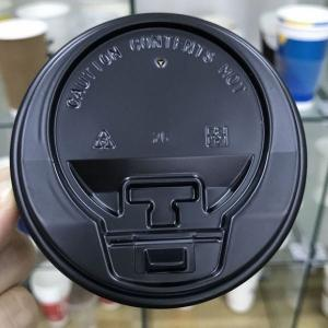 China Disposable Plastic Cup Lid 80mm 90mm Ps Optional Color Eco Friendly Sgs on sale