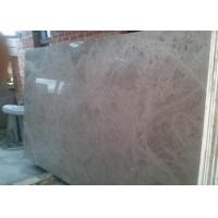 Solid Marble Stone Countertops Slab Brown Color Polished Finish Surface