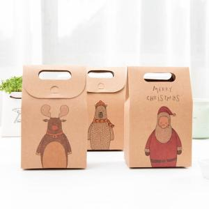 China High-Quality Christmas Stocking Candy Kraft Gift Packaging Small Brown Paper Bags on sale