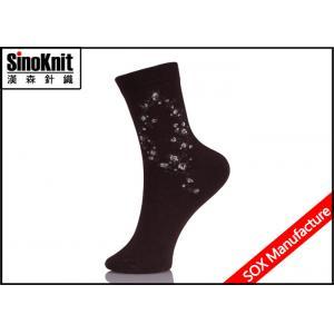 China Black Graceful Customized Jacquard Ladies Fashion Socks , Women Casual Socks on sale