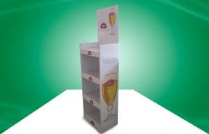 China Heavy Duty Four Shelf Pos Cardboard Displays For Beer , Glossy Limination on sale