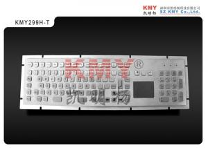 China Vandalproof IP65 Stainless Steel Kiosk Metal Keyboard With Trackpad Pointing Device on sale