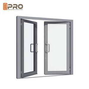 China Grey Modern Aluminum Casement Windows Sound And Heat Insulation grey aluminium casement window on sale