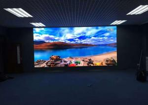 China Hotel Lobby P4 Indoor Advertising LED Display, 400W LED Video Panels4m View Distance on sale