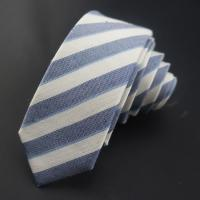 China silk & Linen stripes ties for men on sale