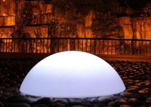 China Outdoor Rechargeable Waterproof Floating Led Sphere Ball Multi Colors Changing on sale