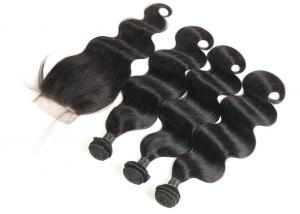 China Peruvian Human Hair Weave Bundles Full Of Resilience No Chemical Process on sale