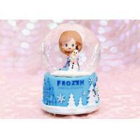 China Transparent Crystal Decoration Crafts , Rotating Crystal Ball Music Box on sale