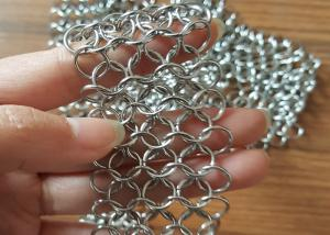 Quality 316 Stainless Steel Chainmail Ring Mesh Use Water Features Shower Curtains For Sale