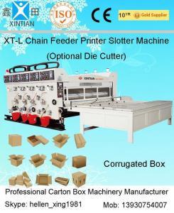 China Big Diameter Roller Flexo Printing Slotting Machine / Carton Box Printing Machine on sale