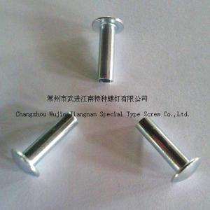China diameter 4X20, Truss Head, Zinc-Plated Steel  Semi-hollow rivets on sale