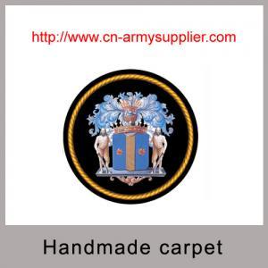 China Jacquard plain cut pile loop pile wool acrylic handmade carpet rugs with backing on sale