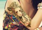 Etiquetas provisórias da tatuagem do corpo de transferência da água, folhas provisórias da tatuagem