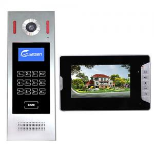 China Black Door Video Intercom Home Security System Home Wires Video doorphone Black Door Monitoring System for building on sale