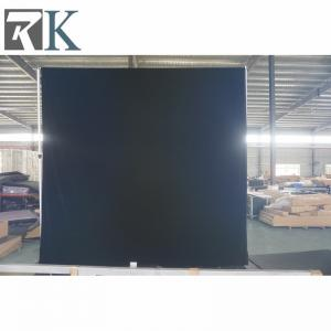 China Black velvet buy pipe drape wholesale Fire resistant Black velvet 100% Blackout square pipe drape For concerts backgroud on sale