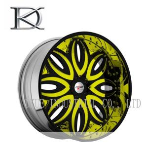 China Carbon Fiber Car Racing Wheels Three Pieces High Performance 6 -12 Cm Width on sale