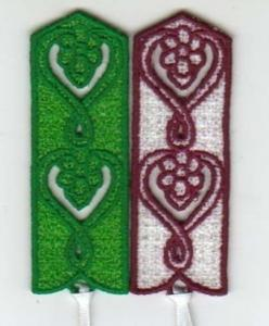 China Business gift, handmade machine embroidery bookmarks souvenir / gift and craft patches on sale