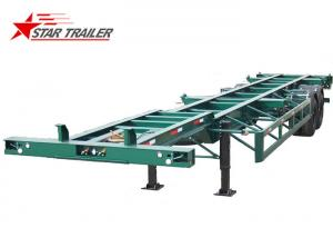 China 20ft Skeletal Trailer Chassis Sea Container Semi Trailer , Fuwa Axle Brand on sale
