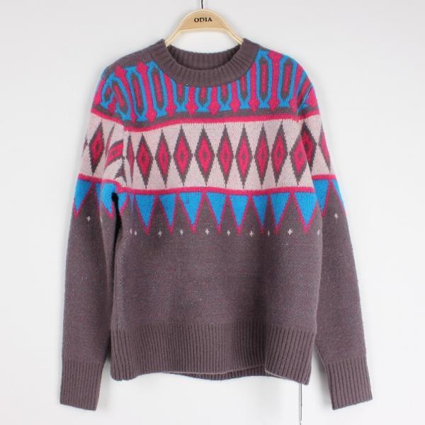 Casuel Jacquard Sweaters For Women Aran Christmas Knit Jumper Knit