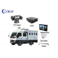 China Strong Light Vehicle PTZ Camera Roof Mounted Forensic Display 360 Degree Rotation on sale