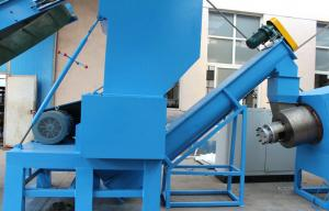 China 380V / 220V Plastic Recycling Machine With Plastic PE / PP Film Crusher on sale