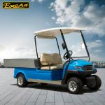 EXCAR Aluminium Blue Electric Utility Carts Electric Food Cart With Trojan Batteries with Customized Cargo Bed