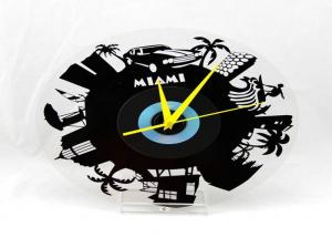 China Fancy Vinyl Record Reverse Wall Clock , Holiday Gift Chiming Wall Clocks Unique on sale