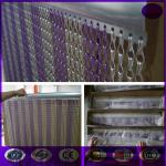 China Purple & silver Fashionable Decorative Aluminium Double Hooks Chain Fly Screen Curtain wholesale