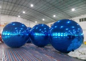 China Inflatable Huge Bule Mirror Ball Advertising Inflatable Product Large Mirror Balloon on sale