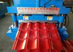 Automatic  Glazed Tile Roll Forming Machine With 7.5kw Main Motor Power