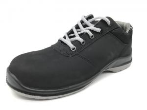 China Black Non Slip Work Shoes Water Resistant Mens Formal Safety Shoes Outdoor Application on sale