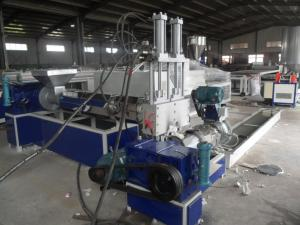 China Non-Woven Recycled Granule Plastic Extrusion Machine , Recycling Pelletizer Extruder on sale