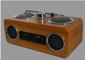 China bamboo speaker (with radio) supplier