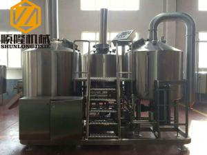 China Complete Microbrewery Brewing Equipment 10HL Capacity 3mm Inner Thickness on sale