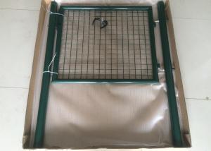 China Single Steel Garden Gate, powder coated round post garden gate 50mmx50mm on sale