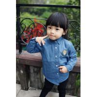 Etonzoe Kids Cowboy cotton Shirt Children Clothes Lady Shirts