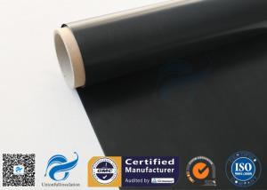 China Black Fire Resistant PTFE Coated Fiberglass Fabric 0.25mm 520 g / m2 on sale