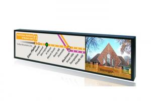 China Railway Commercial LCD Display , 38 Inch Ultra Wide Stretched Bar LCD Advertising Player on sale