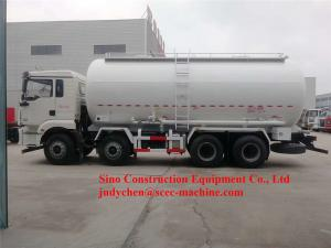 China 8x4 28m3 Bulk Cement Powder Tank Truck 28-33ton Fly Ash Tanker Truck 371hp on sale