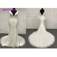 China Real Sample Attractive A Line Ball Gown Wedding Dress For Mature Brides And Girls on sale