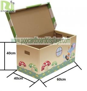 China Small Cardboard Boxes Corrugated Cardboard Furniture Flip Top Storage Stool For Home on sale