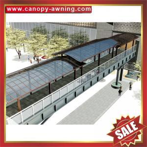 China outdoor aluminium alu aluminum polycarbonate gazebo patio corridor walkway passage canopy awning canopies shelter cover on sale