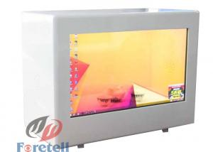 China Exhibition Transparent Lcd Showcase , Transparent Touch Display Support Lan / WiFi / 3G on sale
