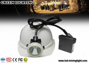 China Mining hard hat headlamp Outdoor Hunting / Super Bright Rechargeable LED Miner Cap Lamp Lithium Battery on sale