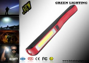 China 140 Lum IP65 LED Flashlight Torch Pen Style ABS Material Micro USB Charger on sale