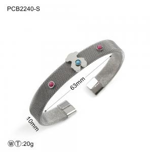 China Silver Plated Women's Stainless Steel Jewelry / Cuff Bangle Bracelet supplier