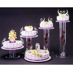 China Acrylic plexiglass display case , wedding cake display holders stands wholesale